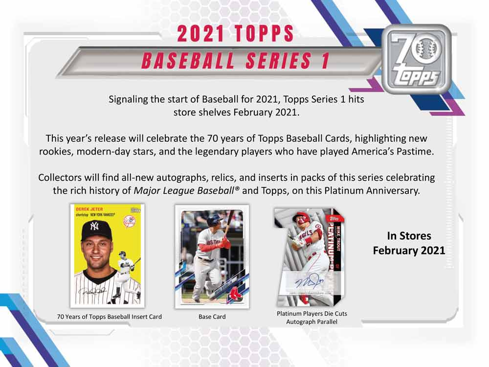 MLB 2021 Topps Baseball Series 1 Hobby 2/10入荷