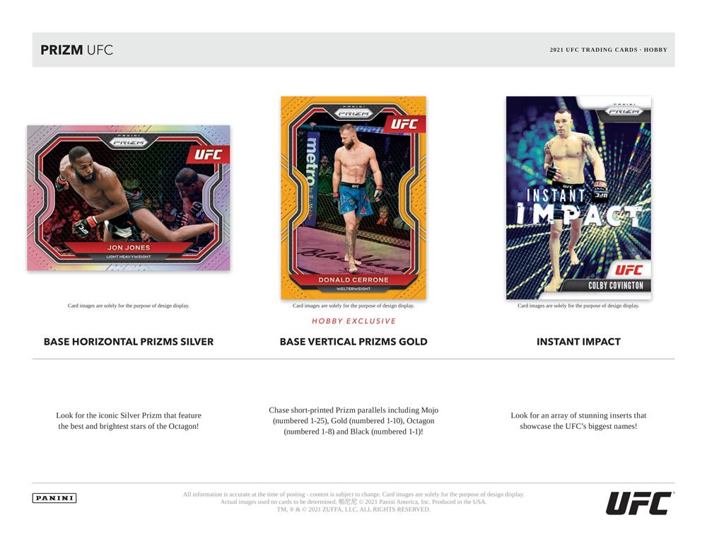 総合格闘技カード 2021 Panini Prizm UFC、4/28入荷!