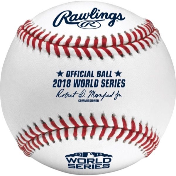Rawlings社製 MLB 2018 ワールドシリーズ公式球 紙箱入り (ボール) ローリングス