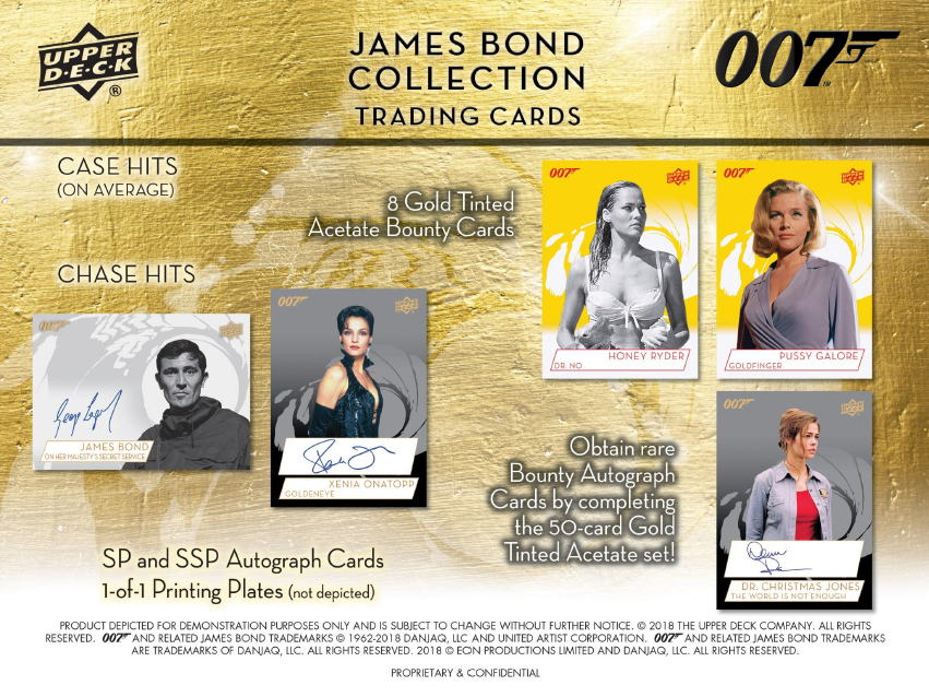 2019 Upper Deck 007 James Bond Collection Trading Cards、6/26入荷!