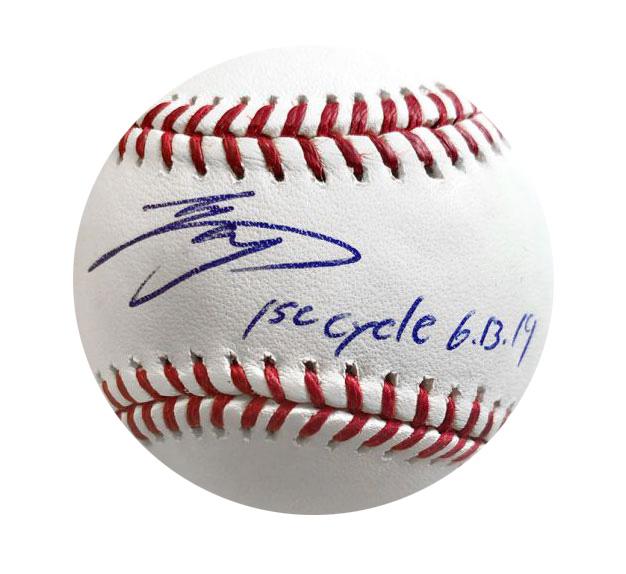 """大谷翔平 1st Cycle 入り直筆サインボール / Shohei Ohtani Autographed Baseball """"1st Cycle"""""""