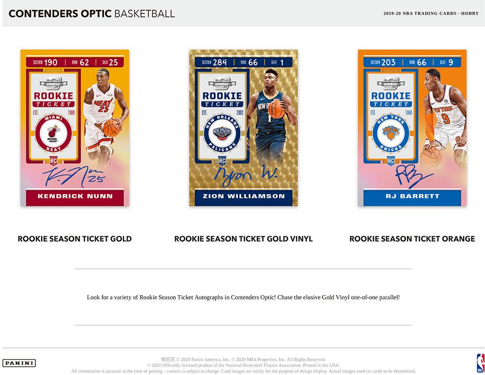 NBA 2019-20 Panini Contenders Optic Basketball 9/23入荷