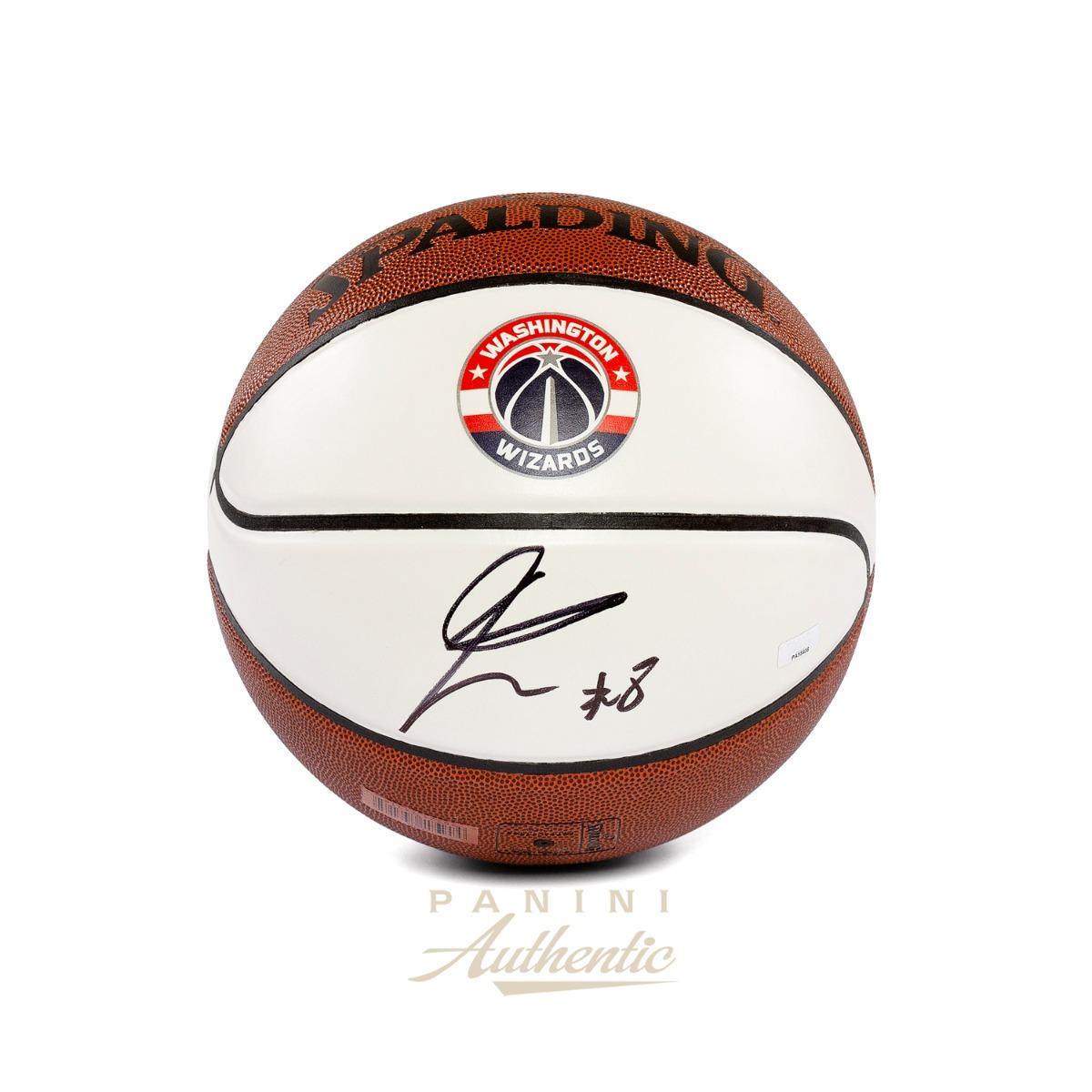 八村塁 直筆サイン入り ワシントン・ウィザーズホワイトパネルバスケットボール / Rui Hachimura Autographed Washington Wizards White Panel Basketball