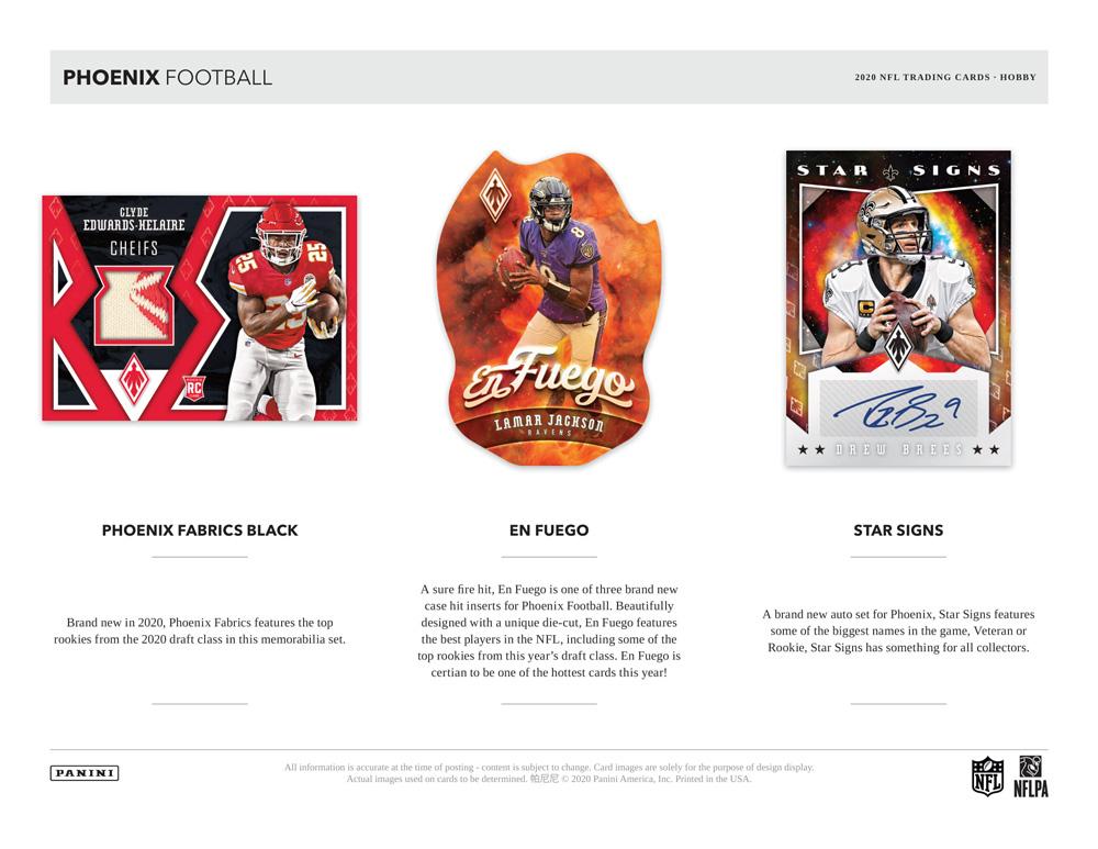 NFL 2020 Panini Phoenix Football 10/30入荷!