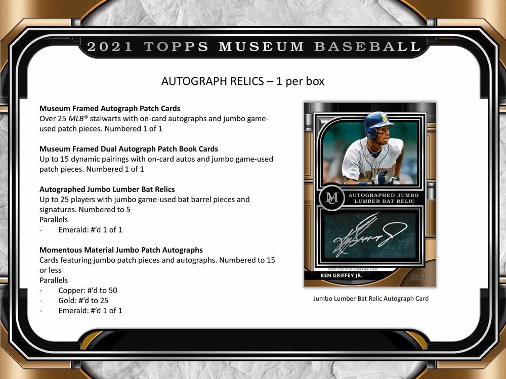 MLB 2021 Topps Museum Collection Baseball 7/14入荷 大谷選手直筆サインラインナップ