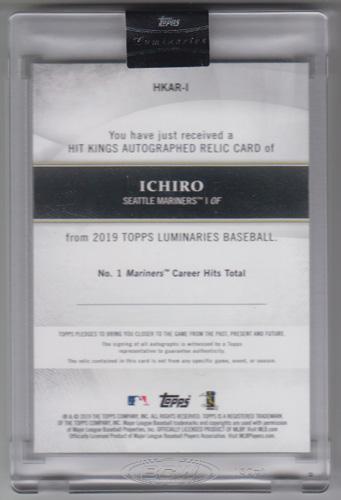 イチロー MLBカード 2019 Topps Luminaries Hit Kings Autograph Relics Blue 05/10 Ichiro