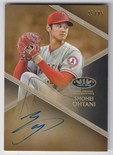 大谷翔平 MLBカード 2019 Topps Tier One Autographs 25/25
