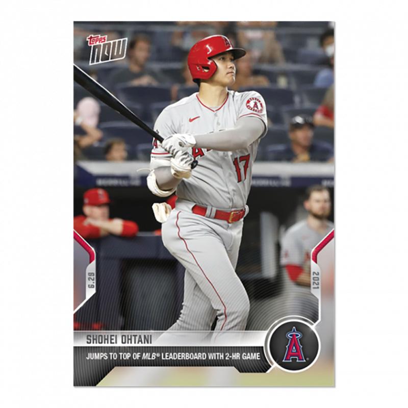 大谷翔平 #429 27、28号連発でホームランメジャー単独トップ記念カード Jumps to Top of MLB Leaderboard With 2-HR Game - Shohei Ohtani 2021 Topps Now Card 7/28入荷