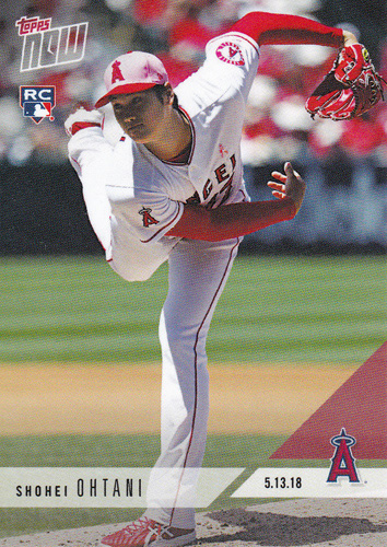 大谷翔平 #210 1試合11奪三振&6試合合計43奪三振達成記念 カード Phenom Ks 11,Sets Angels Record With 43 Ks Through 6 Outings - Shohei Ohtani MLB Topps Now Card