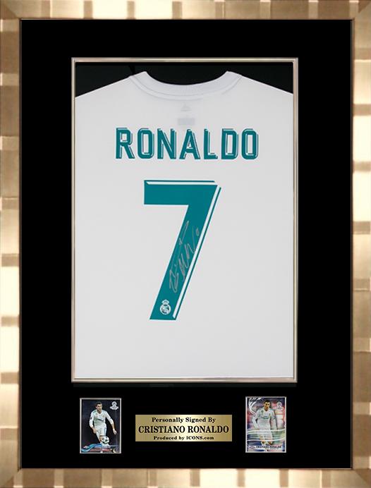 クリスティアーノ・ロナウド 直筆サインジャージ 2017-18 レアル・マドリード ホーム 額装 ゴールド (Back Signed Real Madrid 2017-18 Home Shirt) / Cristiano Ronaldo 7/14入荷!
