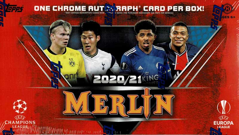 2020-21 Topps Merlin Collection Chrome UEFA Champions League Europa League Soccer Cards 7/21入荷!