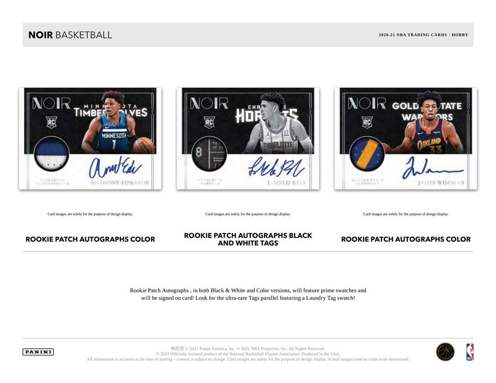 NBA 2020-21 Panini Noir Basketball 7/1入荷!