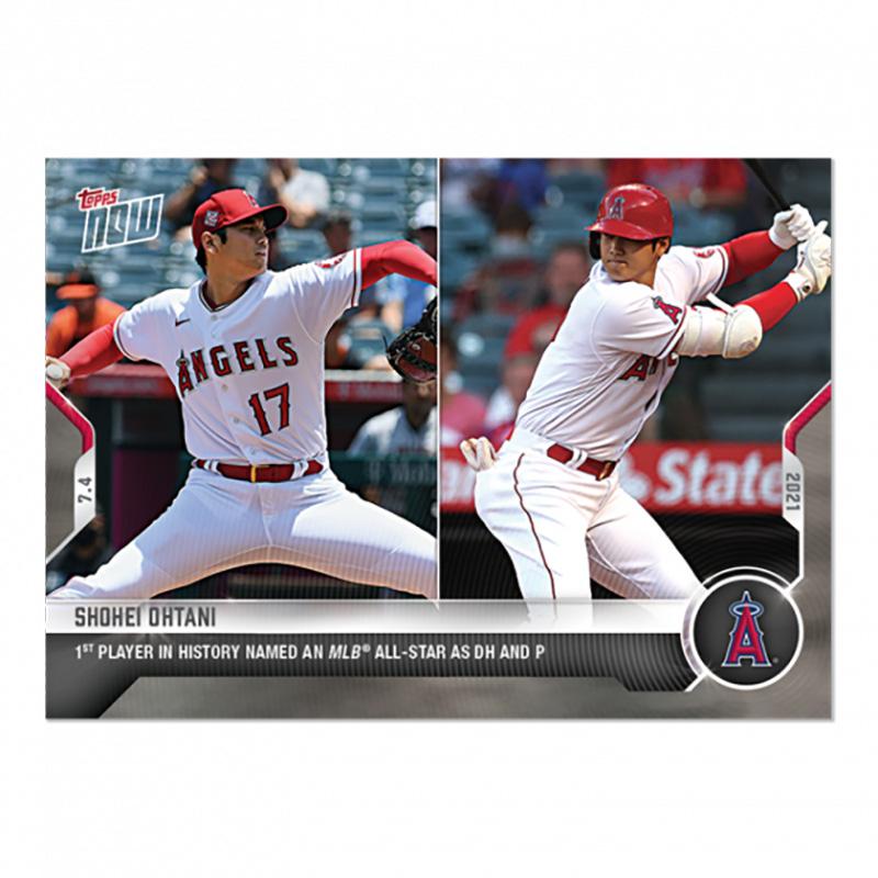 大谷翔平 #457 MLB史上初オールスター二刀流選出記念カード 1st Player in History Named AN MLB All-Star as DH and P - Shohei Ohtani 2021 Topps Now Card 7/28入荷
