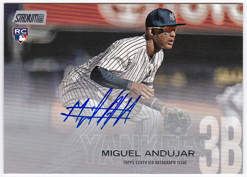 ミゲル・アンドゥハー MLB 2018 Topps Stadium Club Autographs #SCA-MA Miguel Andujar