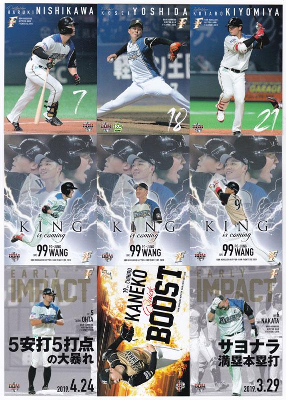 プロ野球カード 2019 BBM 北海道日本ハムファイターズ レギュラーカード コンプリートセット 全81枚!