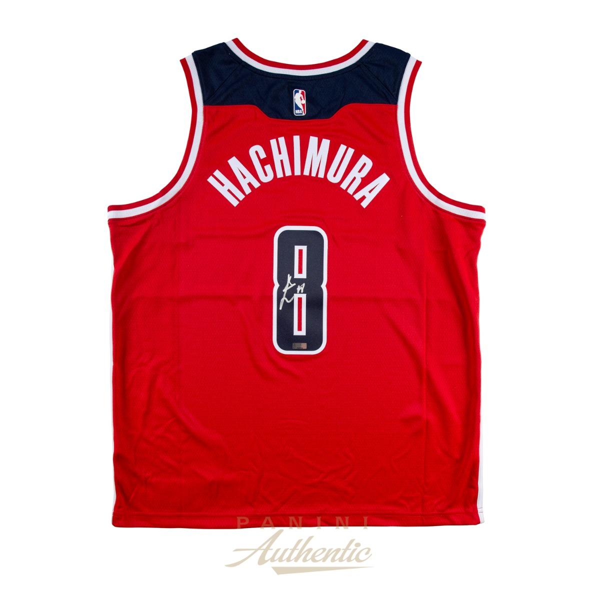 八村塁 直筆サイン入りユニフォーム スウィングマンジャージ(アウェイ/レッド) / Rui Hachimura Autographed Red Washington Wizards Swingman Jersey