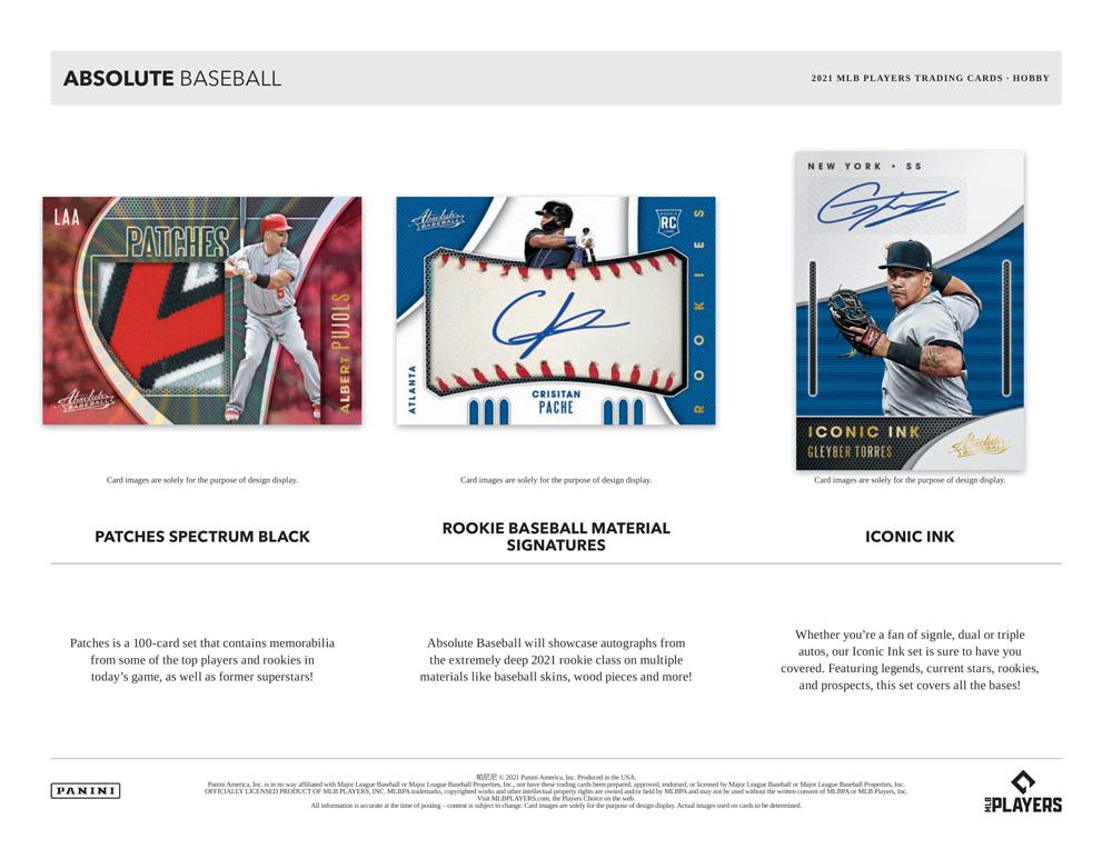 MLB 2021 Panini Absolute Baseball 6/4入荷