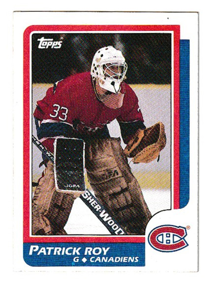 Patrick Roy 1986/87 Topps Rookie Card