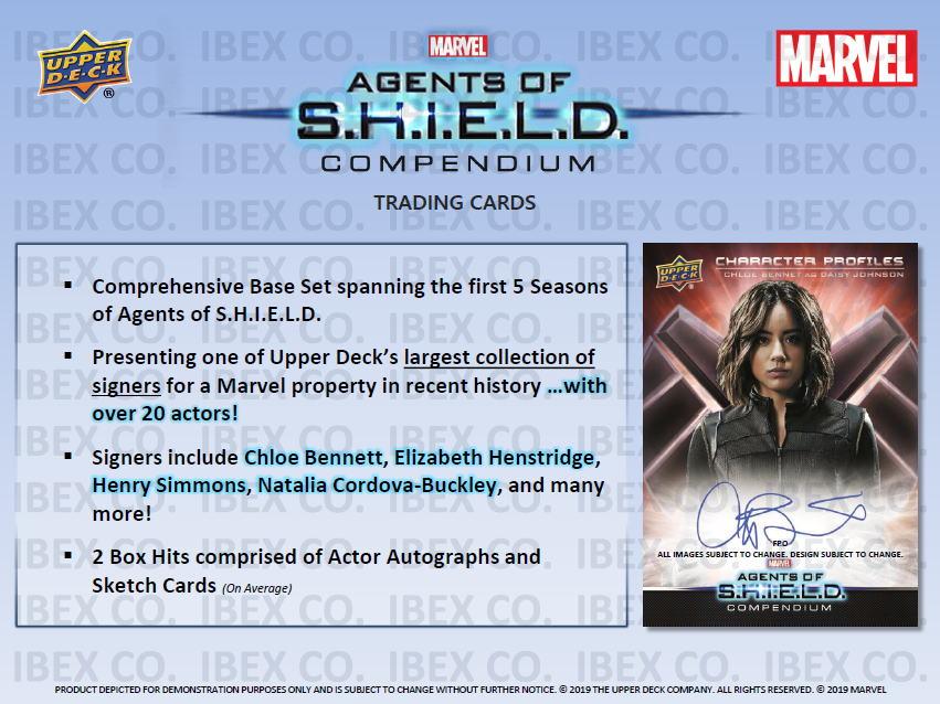 マーベル 2019 Upper Deck Marvel's Agents of S.H.I.E.L.D. Compendium Trading Cards、価格はASK 店頭販売中!12/19入荷!
