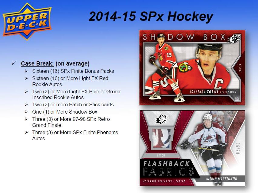 NHL 2014-15 SPx Hockey