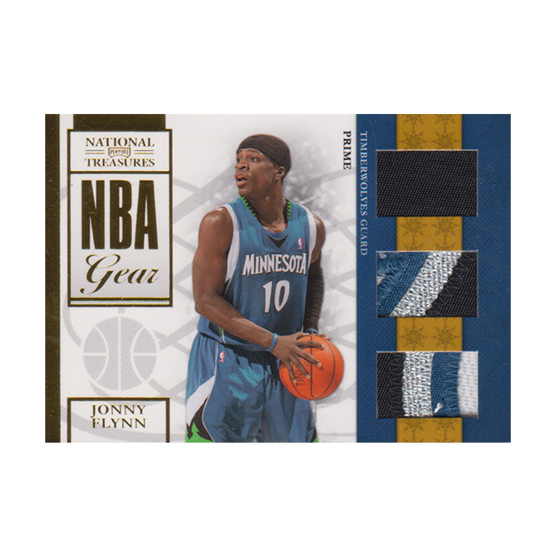 ジョニー・フリン NBAカード 2019-10 National Treasures NBA Gear Triple Patch (20/49) / Jonny Flynn