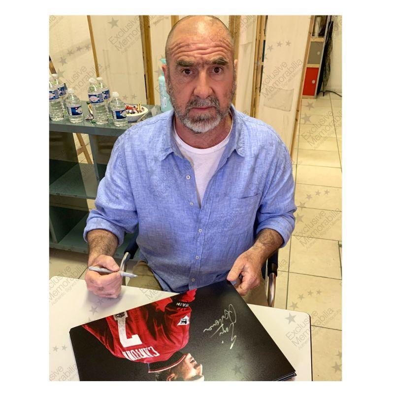 エリック・カントナ 直筆サイン入りフォト Eric Cantona Signed Manchester United Photo
