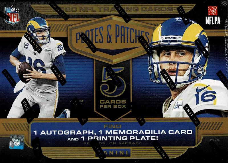 NFL 2020 Panini Plates & Patches Football 3/8入荷
