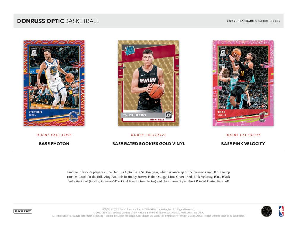 NBA 2020-21 Panini Donruss Optic Basketball Hobby版 9/17入荷