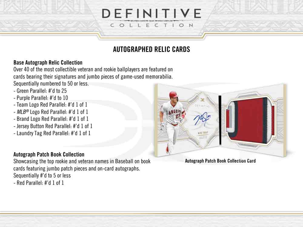 MLB 2020 Topps Definitive Collection Baseball 4/24入荷