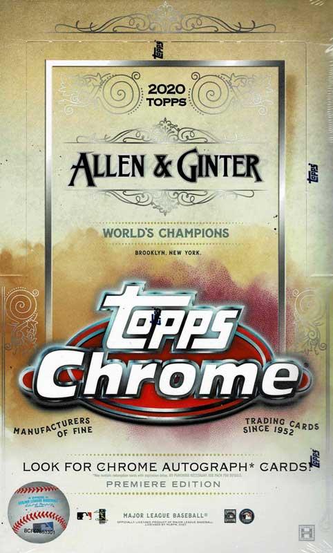 MLB 2020 Topps Allen & Ginter Chrome Baseball 12/4入荷!