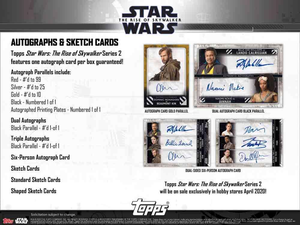 スター・ウォーズ 2020 Topps Star Wars Episode 9 : Series 2 トレーディングカード 6/24入荷!