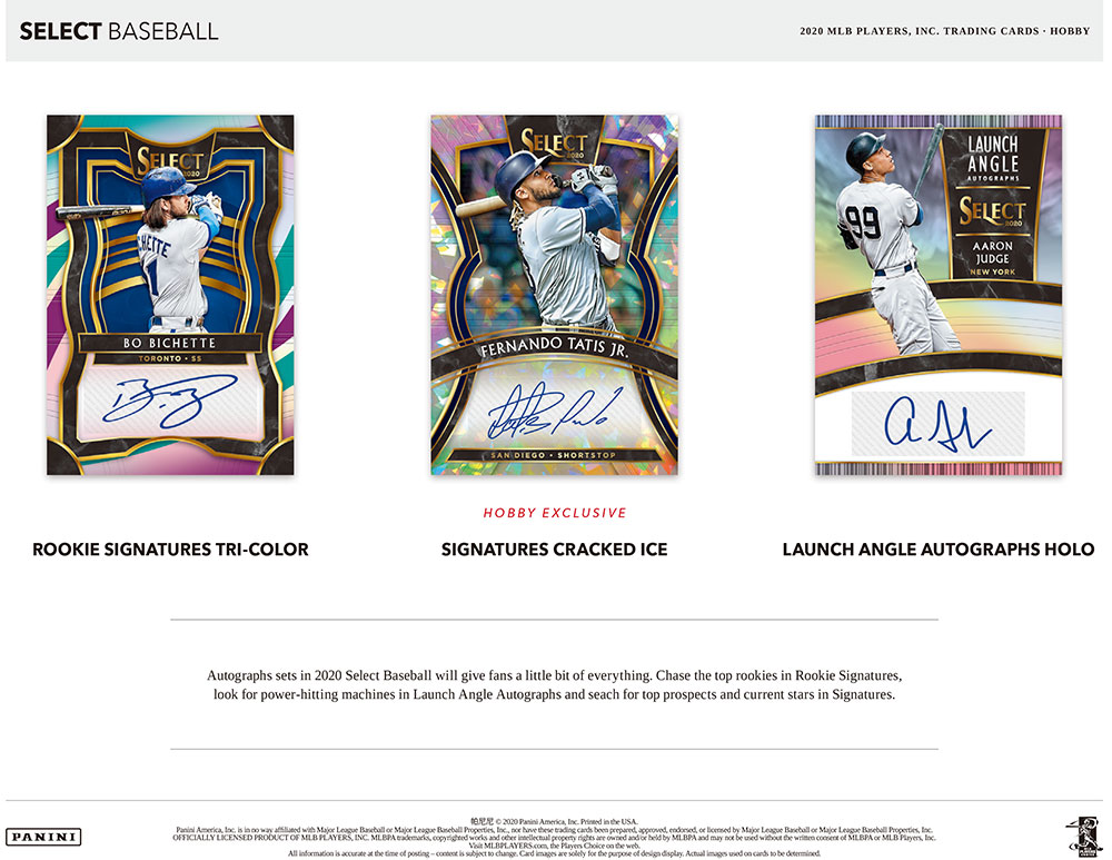 2020 Panini Select Baseball 5/22入荷