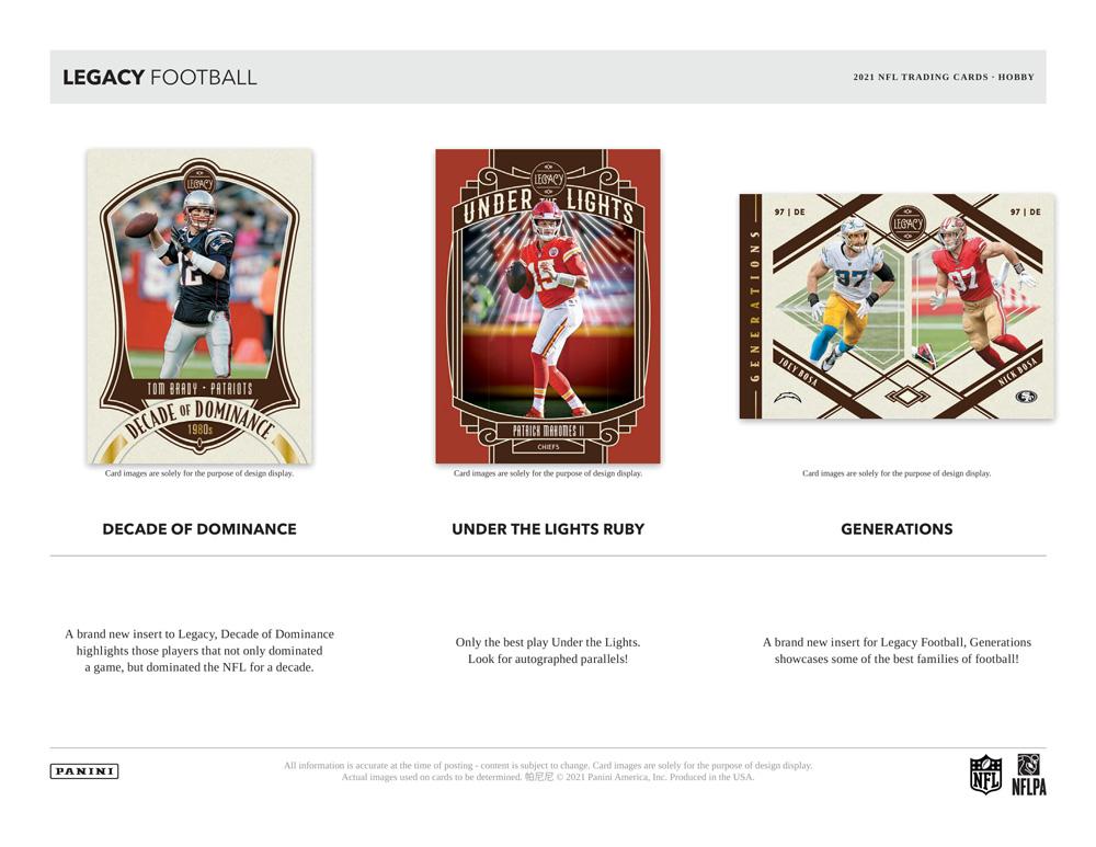 NFL 2021 Panini Legacy Football 5/26入荷