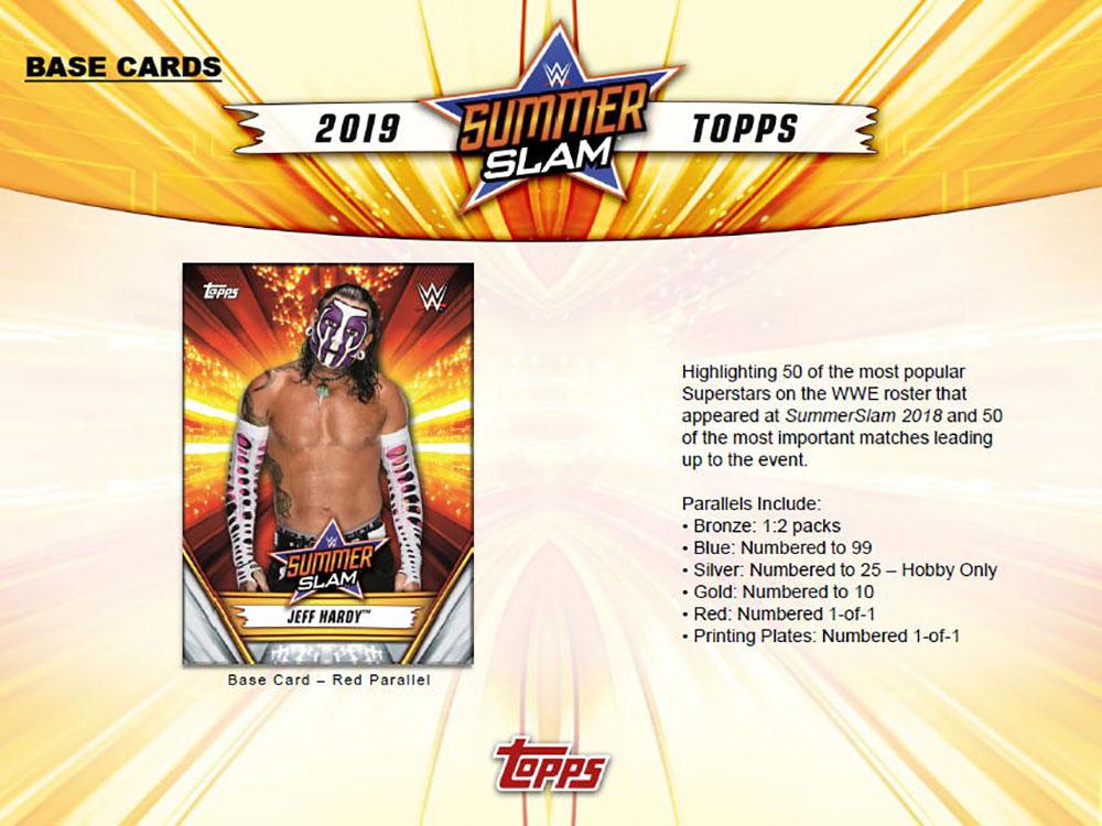 プロレスカード WWE 2019 Topps WWE Summer Slam ボックス (Box) 7/10入荷