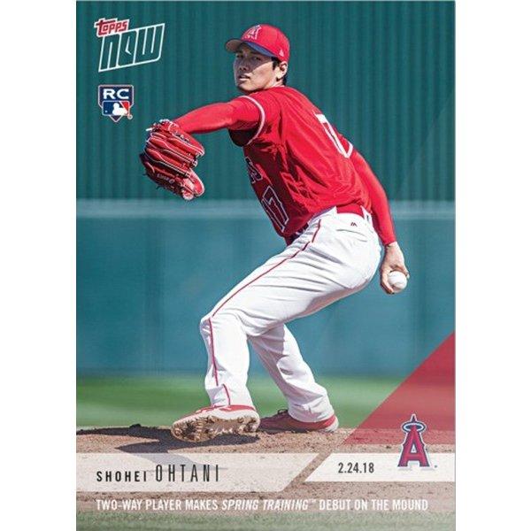 大谷翔平 2018 Topps Now 02/24/2018 Spring Training Debut メジャーリーグカード - Shohei Ohtani MLB Topps Now Card