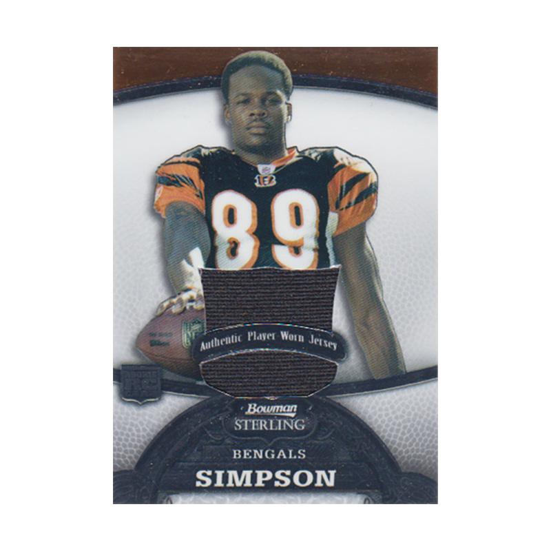 ジェローム・シンプソン 2008 Bowman Sterling Jersey 097/309 Jerome Simpson