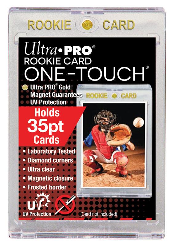 Ultra Pro (ウルトラプロ) 35PT ルーキーカード UVワンタッチマグネットホルダー 1mm厚 UV (#85266) | One Touch