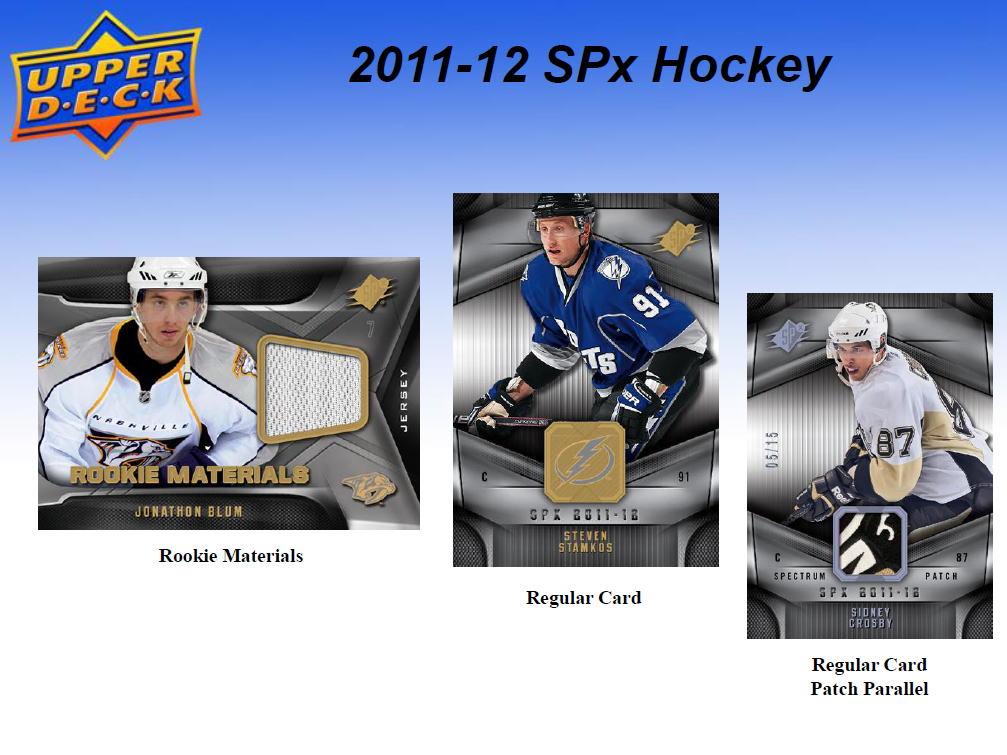 NHL 11/12 UD SPx パック (Pack)