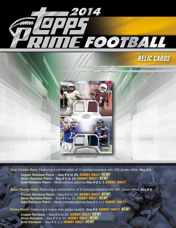 NFL 2014 Topps Prime Football Pack