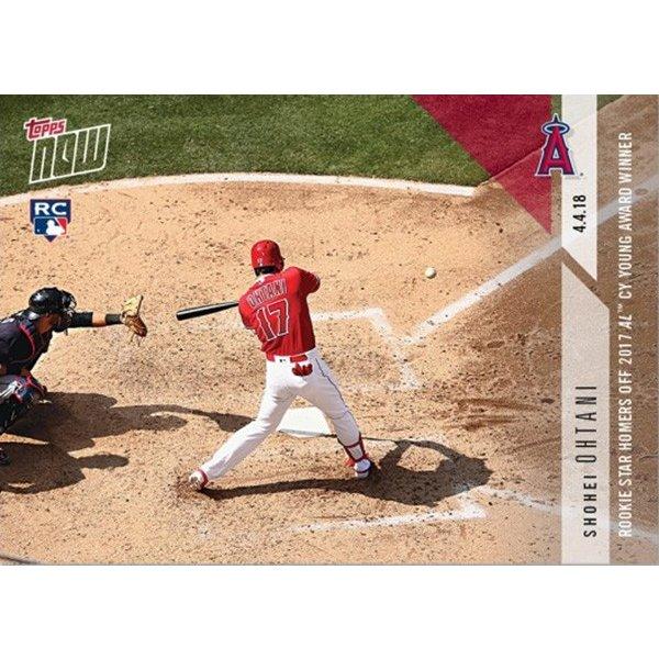 大谷翔平 Rookie Star Homers Off 2017 AL CY Young Award Winner - Shohei Ohtani MLB TOPPS NOW CARD #36 MLB2号ホームランカード