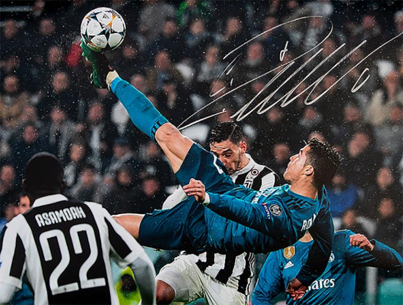 クリスティアーノ・ロナウド レアル・マドリード アイコニック UEFA ゴール vs ユベントス 直筆サインフォト Signed Real Madrid Photo: Iconic UEFA Goal vs Juventus / Cristiano Ronaldo 1/28再入荷