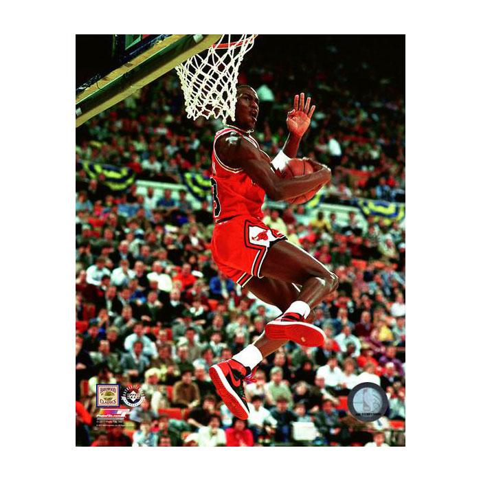 マイケル・ジョーダン 1985 NBA スラムダンク コンテスト 8x10 フォト シカゴ・ブルズ フォトファイル