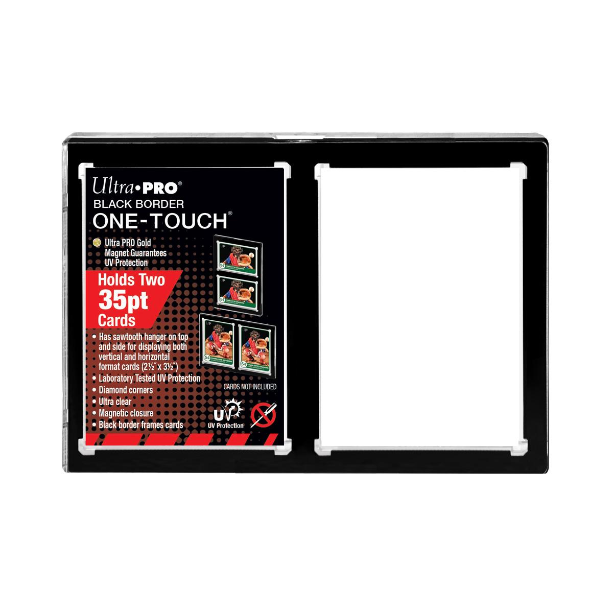 ウルトラプロ (Ultra Pro) 35PT 2カード UVワンタッチマグネットホルダー 黒枠 1mm厚 #15112 | 35PT 2-Card Black Border UV ONE-TOUCH Magnetic Holder