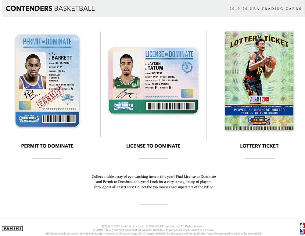 NBA 2019-20 Panini Contenders Basketball Hobby 1/8入荷!八村塁封入!