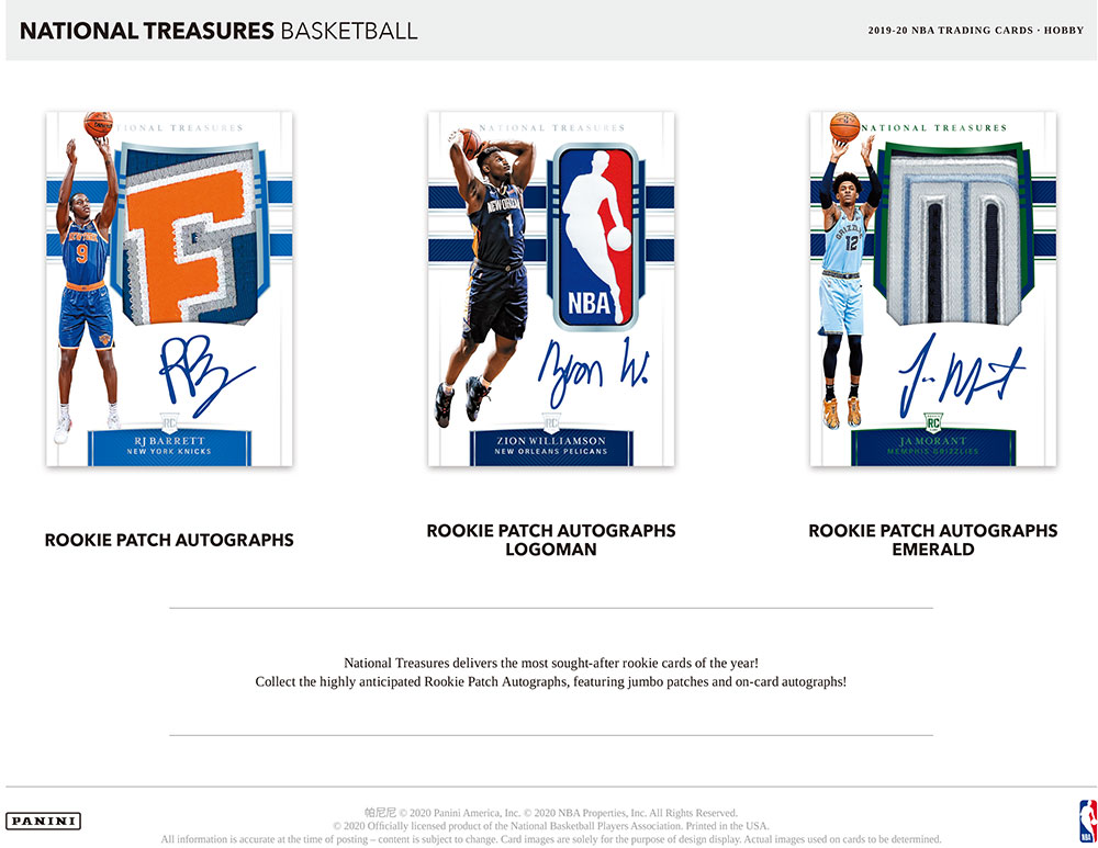NBA 2019-20 Panini National Treasures Basketball