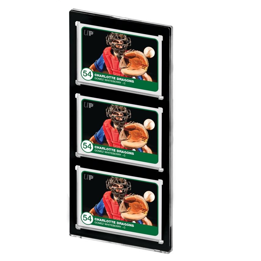 ウルトラプロ (Ultra Pro) 35PT 3カード UVワンタッチマグネットホルダー 黒枠 1mm厚 #15113 | 35PT 3-Card Black Border UV ONE-TOUCH Magnetic Holder