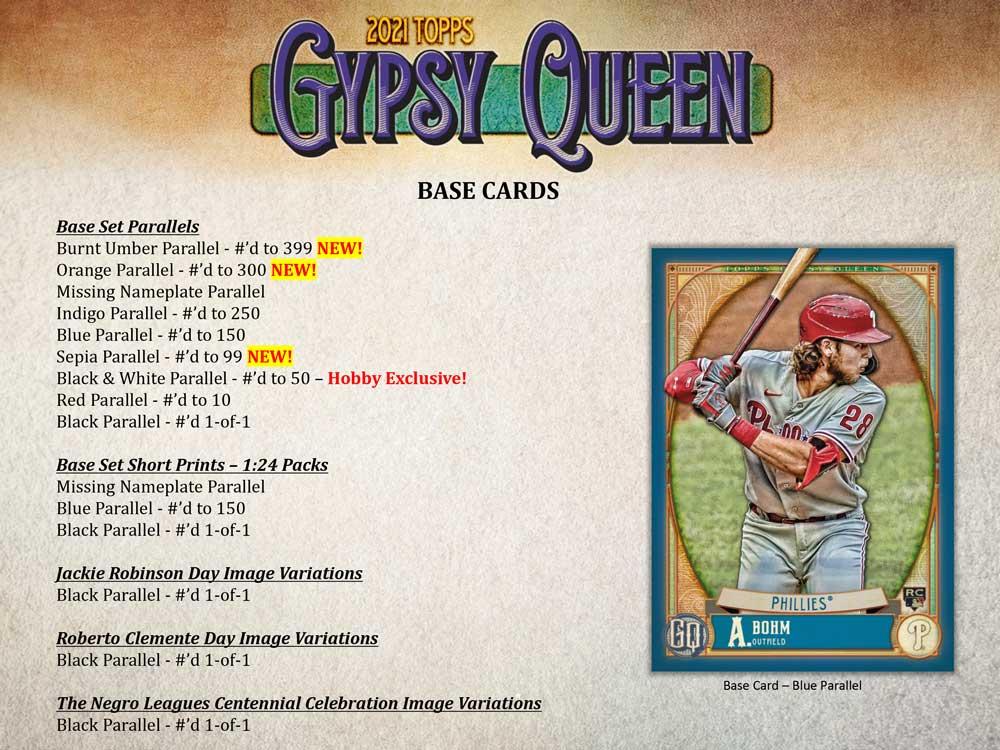 MLB 2021 Topps Gypsy Queen Baseball 7/20入荷