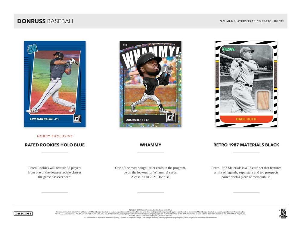 2021 Panini Donruss Baseball 3/12入荷