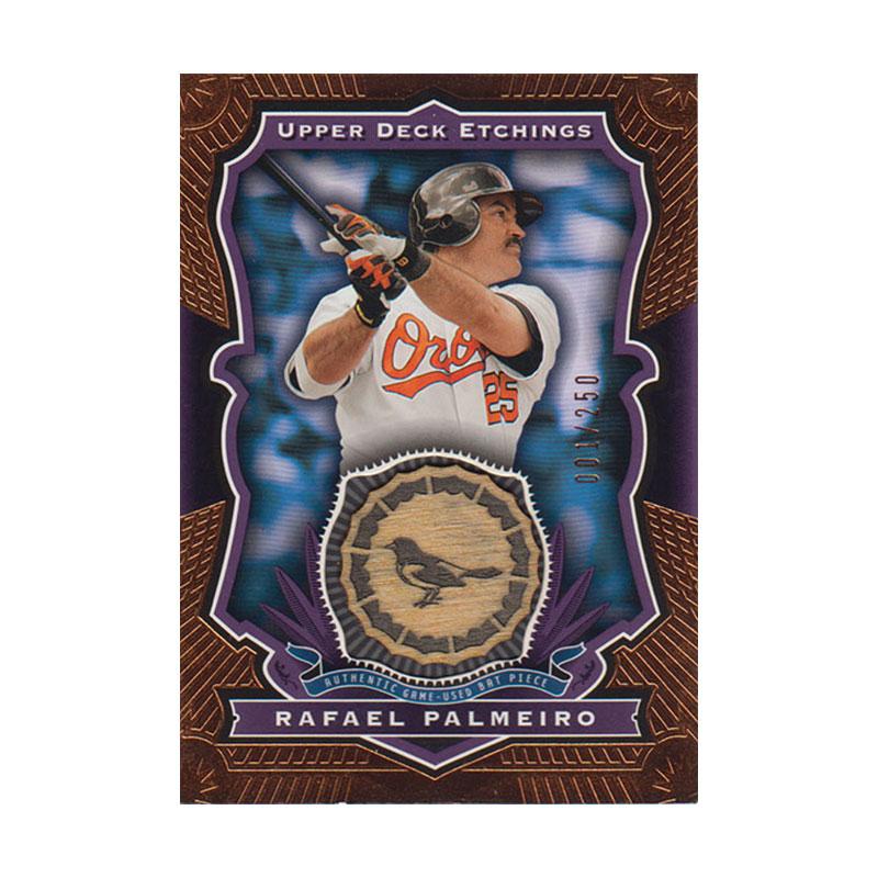 ラファエル・パルメイロ 2004 UD Etchings Game Used Bat 001/250 Rafael Palmeiro