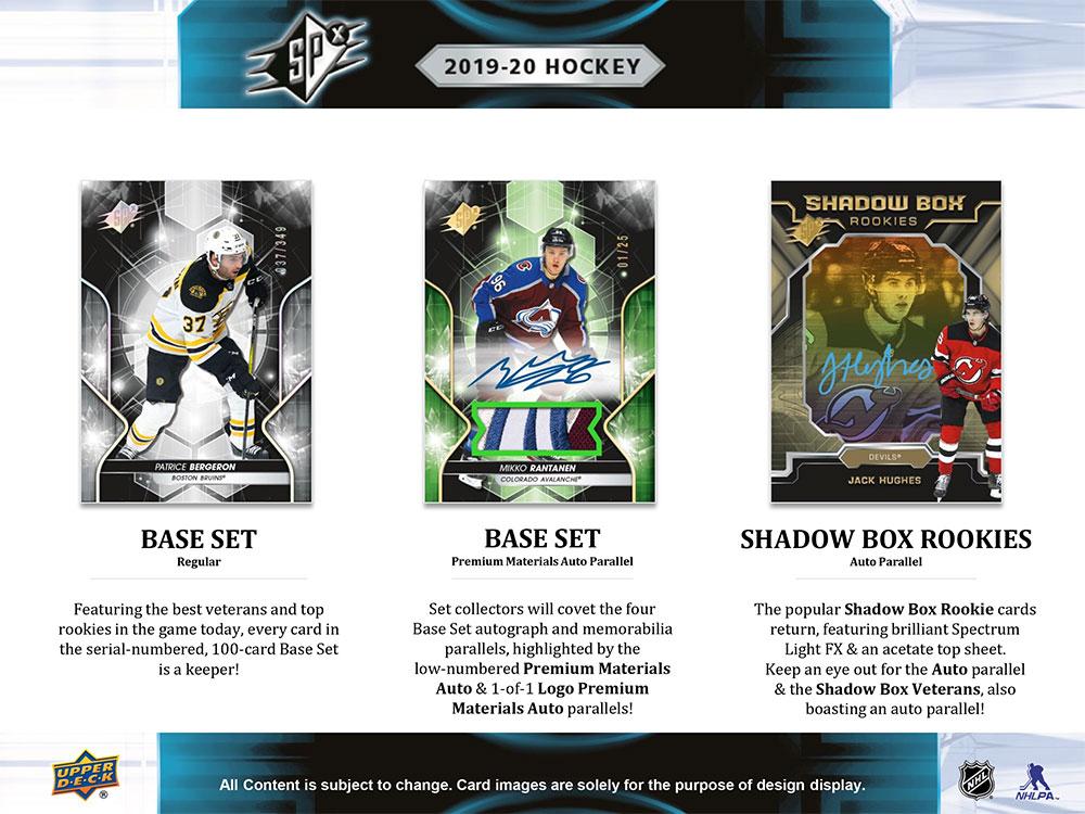 NHL 2019-20 UD SPx Hockey 価格はASK、店頭販売中!3/18入荷!